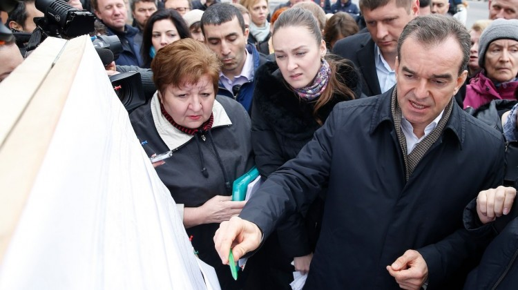 Вениамин Кондратьев встретился с жителями домов Ростовского шоссе