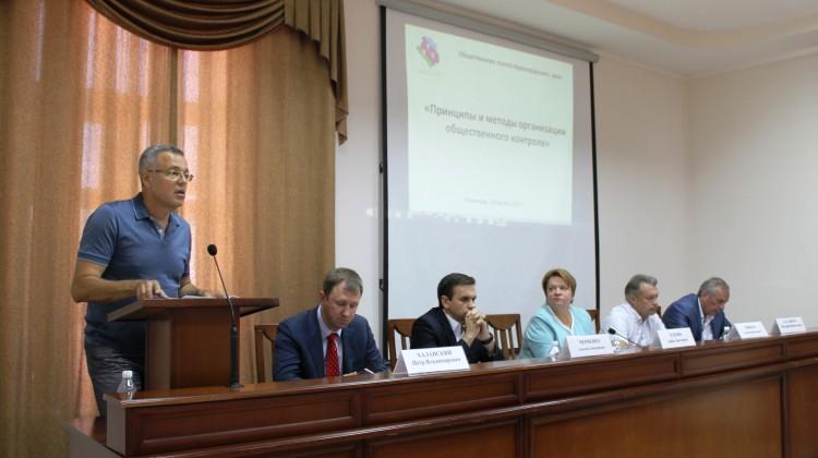 Председатель СПЧ при губернаторе Краснодарского края принял участие в семинаре по вопросам организации общественного контроля