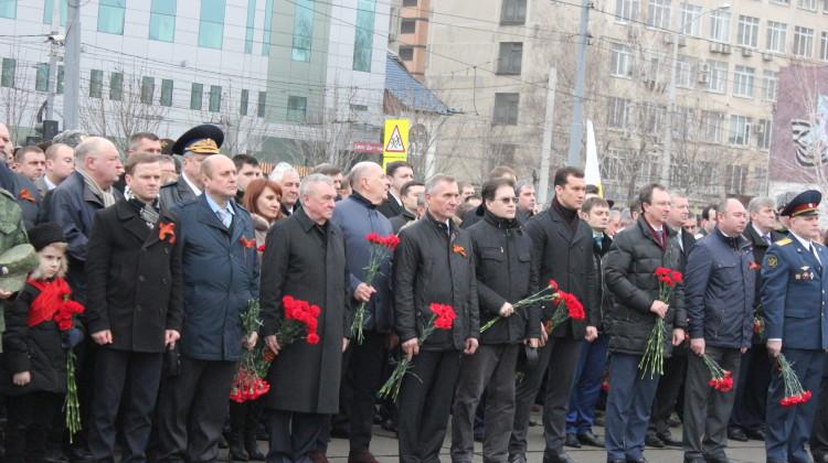 Члены Совета приняли участие в торжественной церемонии в День защитника Отечества