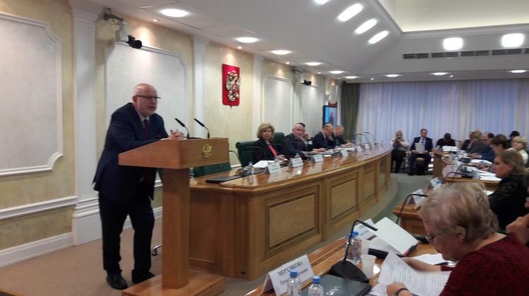 Советник губернатора Андрей Зайцев принял участие в парламентских слушаниях Совета Федерации