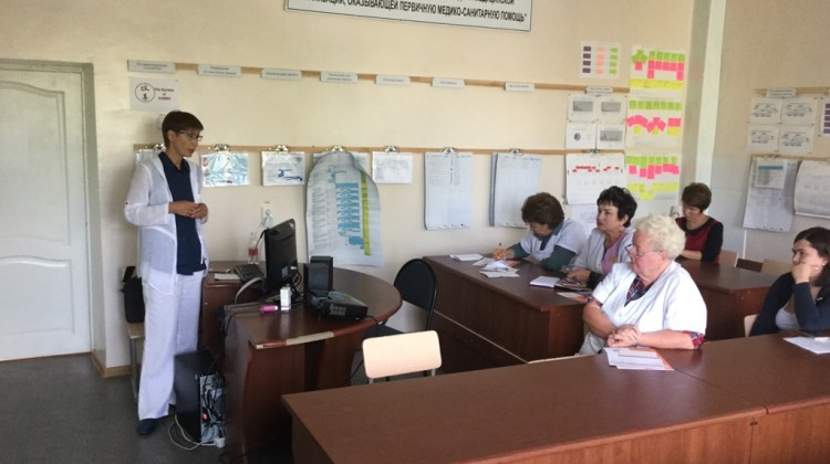 Член Совета Вера Литкова провела занятие в «Астма-школе»