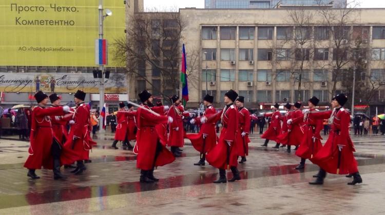 На Кубани сегодня отметили День защитника Отечества и 100-летие флага региона