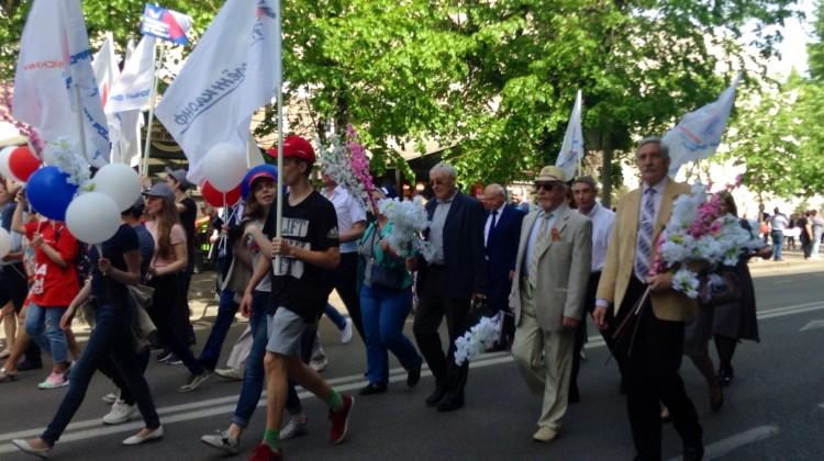 Члены Совета и его председатель приняли участие в первомайской демонстрации