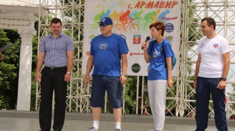 В Армавирепо инициативе члена Совета Веры Литковой состоялся велопарад