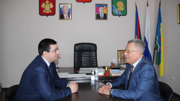 Глава Ейского района провел рабочую встречу с советником губернатора Краснодарского края Андреем Зайцевым